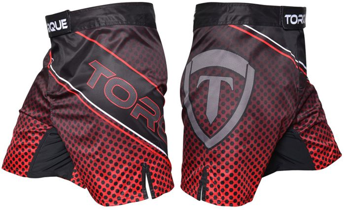 torque-grid-fight-shorts-red