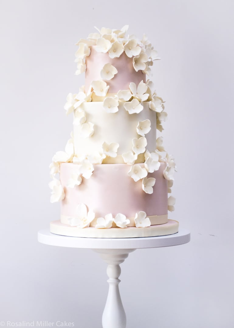 Falling Rose Petals Wallpaper Wedding Cakes Rosalind Miller Cakes London Uk