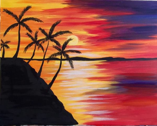Sunset Silhouette by Art-C Painting