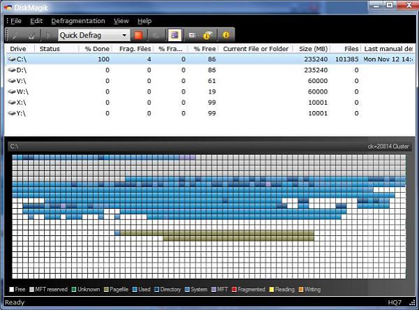 See a full sized DiskMagik Screenshot - main window