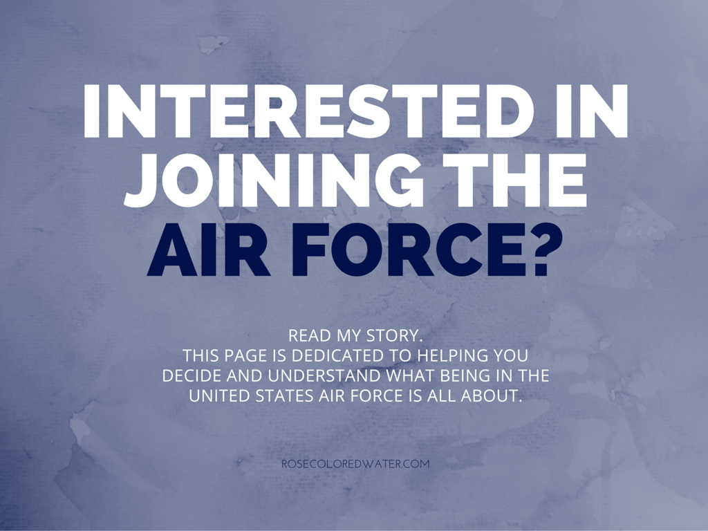 Interested in Joining the Air Force?