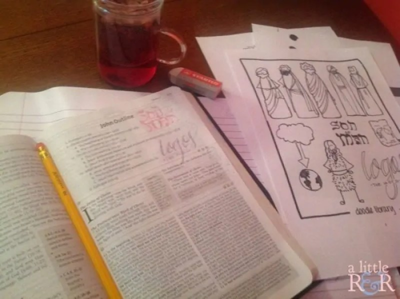 It's a DOODLE Bible study! How fun is that? Doodle your way through The Gospel of John!!
