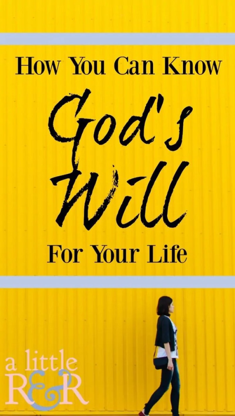 Here is how we can know God's will for our lives and live in a way that He designed us to live!
