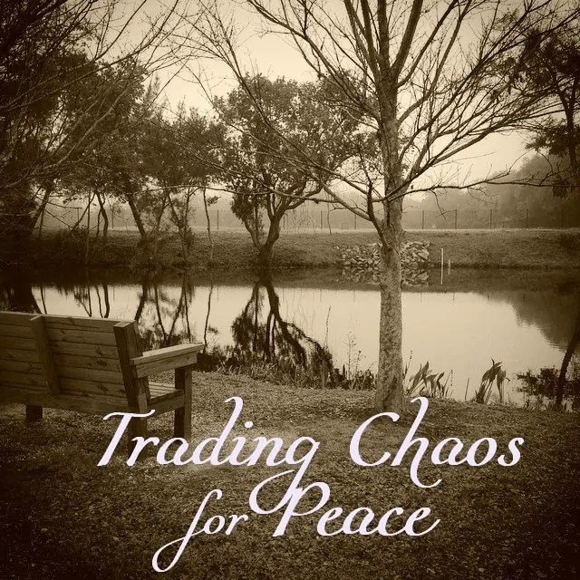 If we're not careful, our life can grow incredibly chaotic with all of the noise calling for our attention and the attention of our family. Here's why we need to trade chaos for peace.