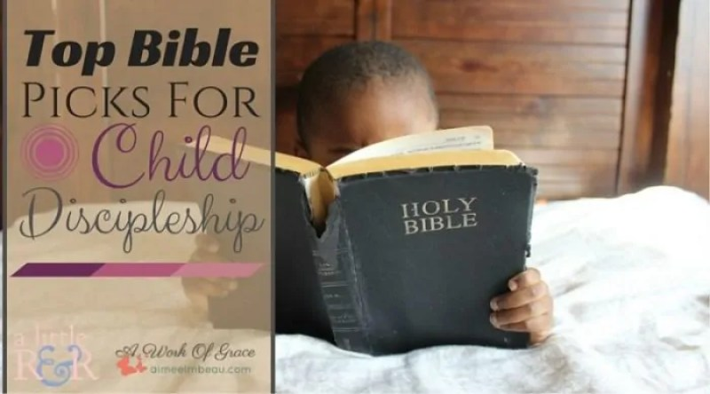 Bible study and discipleship ought to be the core of our homeschool, with all other teaching flowing from it. Here are our family's Top Bible Picks For Child Discipleship