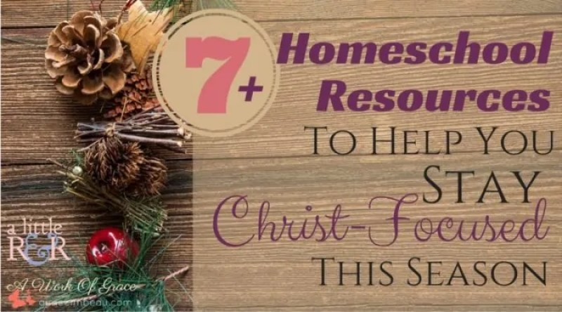 In a culture where the 'gimmes' reign supreme, it can be difficult to help our family focus on the true meaning of Christmas. Here are some of my favorite resources to use in the month of December to help prepare the minds and hearts of everyone in my family. 7+ Homeschool Resources To Help You Stay Christ-Centered This Season.