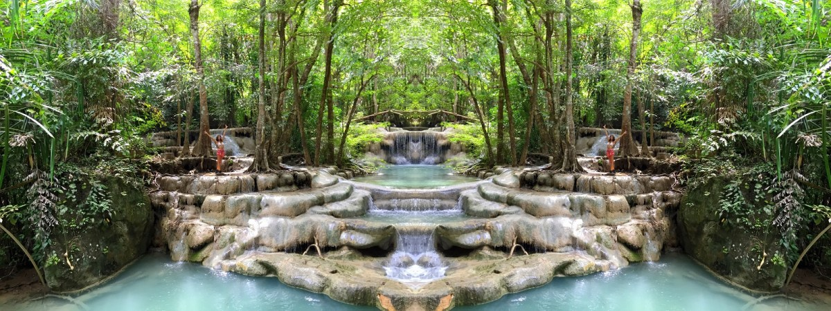 Erawan Waterfalls Erawan National Park Thailand