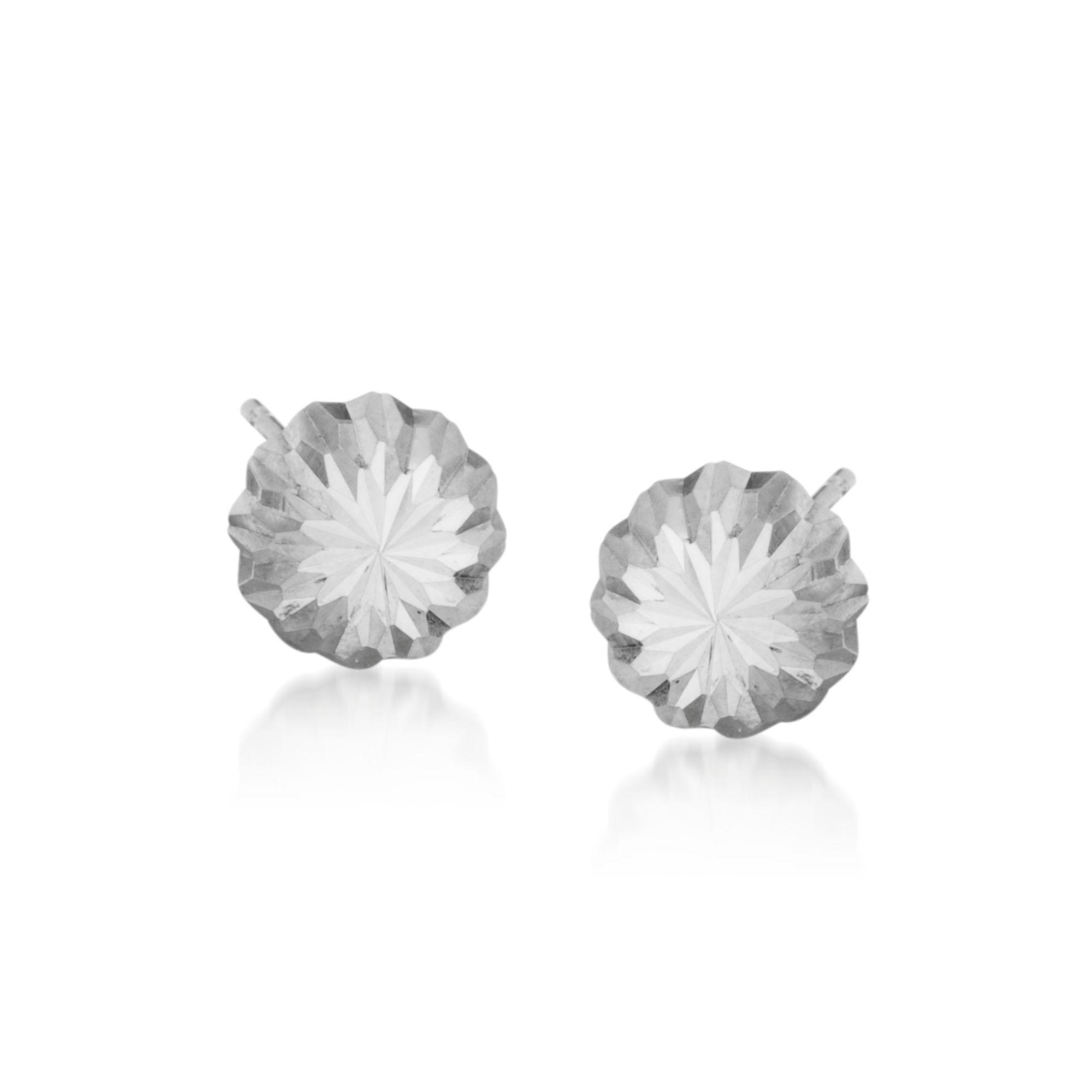14kt White Gold Stud Earrings