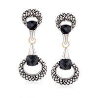 Andrea Candela Black Onyx Drop Earrings in Sterling Silver ...