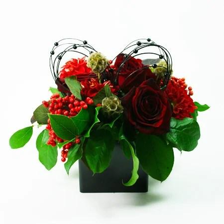 Flower Wallpaper Free: Black And Red Flower Arrangements