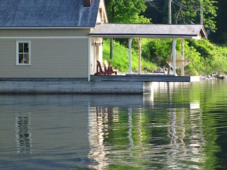 You can see your boathouse better here now. (Photo: Eve Ticknor)