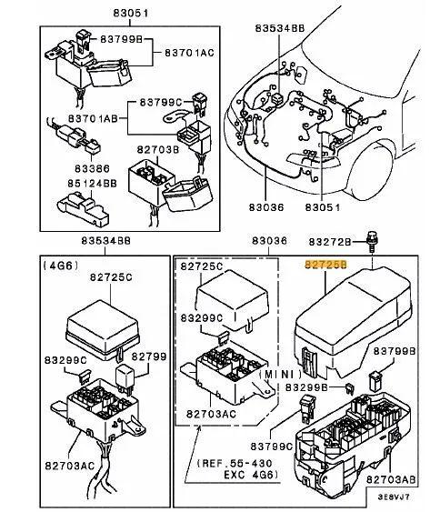 mitsubishi fuse box cover