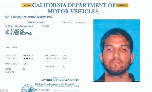 permis de conducere al teroristului din san bernardino