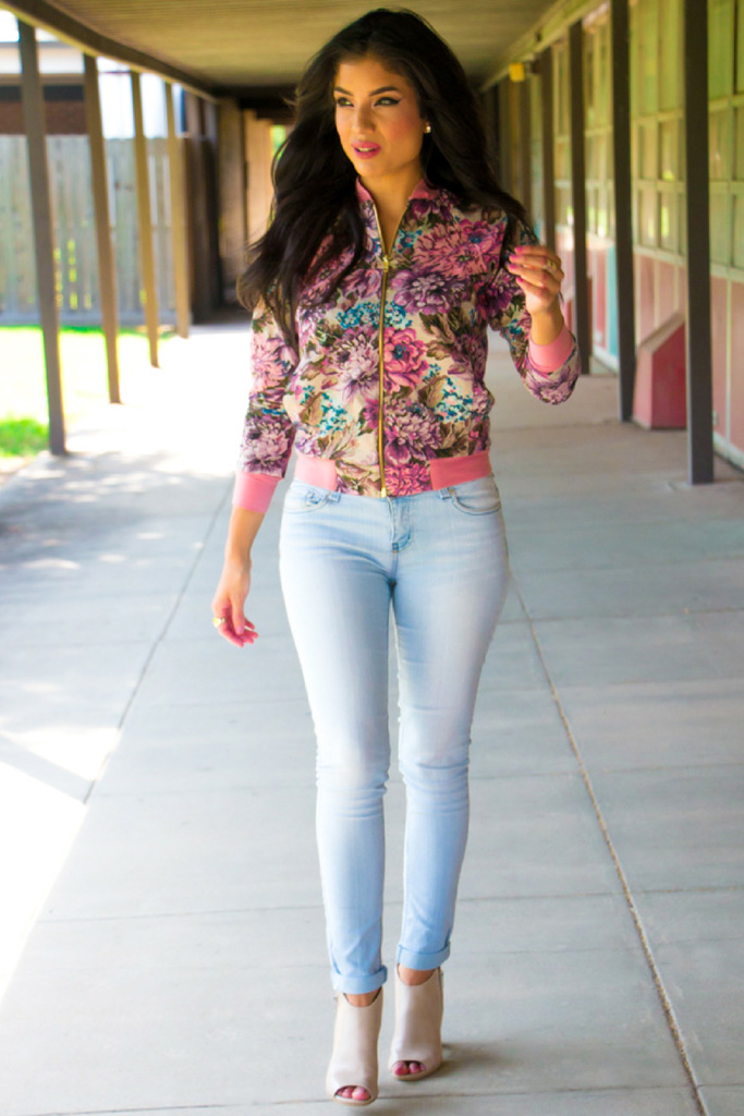 Floral Bomber Jacket + Pattern Review - McCall's 7100