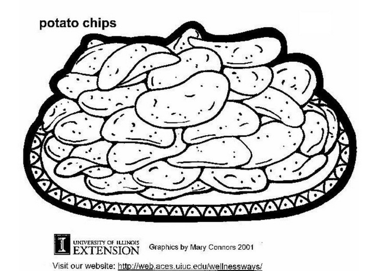 French Fries Coloring Page - Eskayalitim