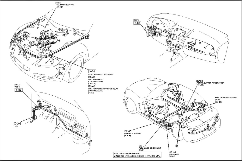 Ejemplo circuito eléctrico RX8 jird20 RotaryPit