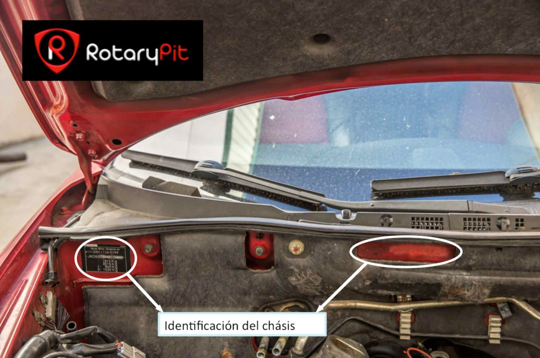 identificación número chásis RX8 RotaryPit