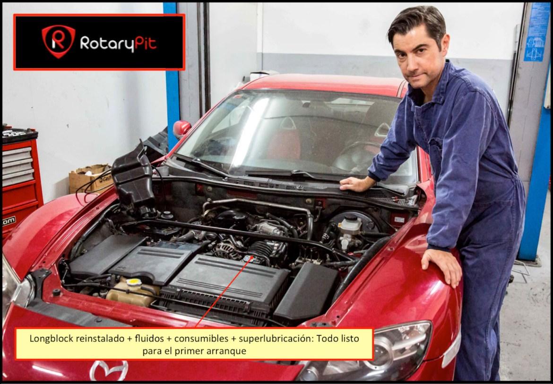 Motor listo primer arranque Reconstrucción Renesis rebuild RX8 RX7 jird20 RotarytPit