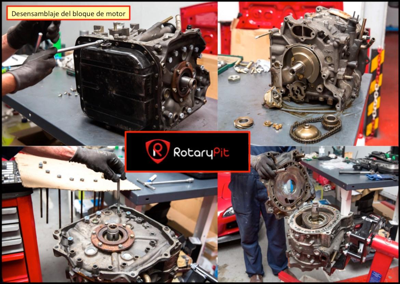 Reconstrucción rebuild motor Renesis desensamblaje bloque motor shortbock RX8 RX7 jird20 RotaryPit