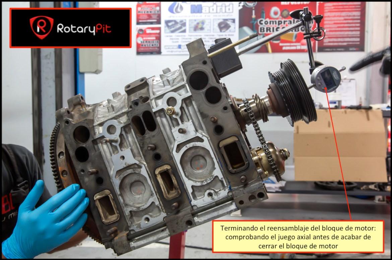 Reconstrucción rebuild motor Renesis fase final reensamblaje shortblock RX8 RX7 jird20 RotaryPit