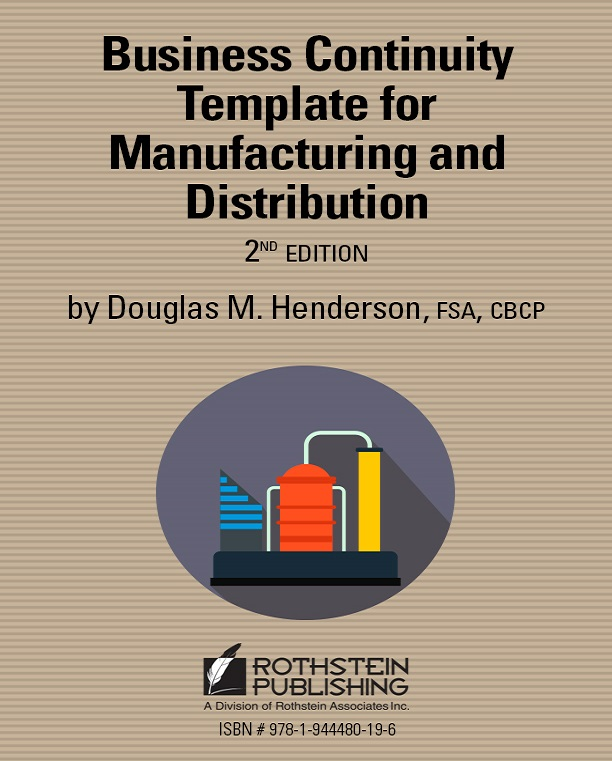 Business Continuity Template For Manufacturing and Distribution