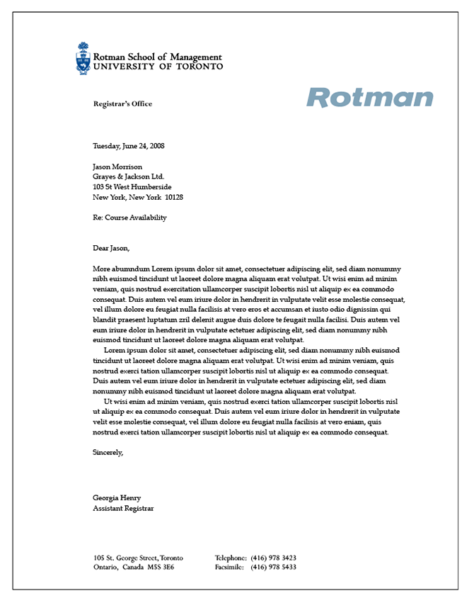 rotman resume template