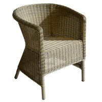 Round Grey All Weather Chair - Roudham Trading