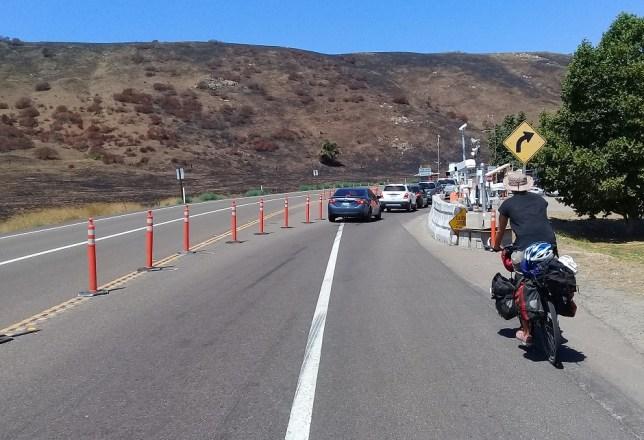 Ben approaches an inland border patrol checkpoint