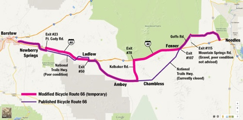 California to allow bicycles on Interstate 40
