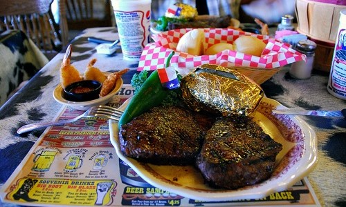 Woman eats three 72-ounce steak dinners in 20 minutes