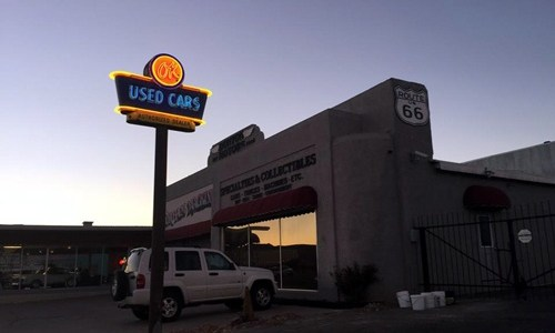 Restored neon sign installed at Kingman dealership