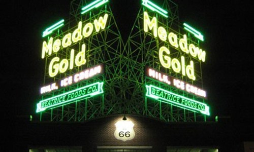 Meadow Gold sign in Tulsa soon will get clocks
