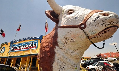 Is the Big Texan Steak Ranch on Route 66?