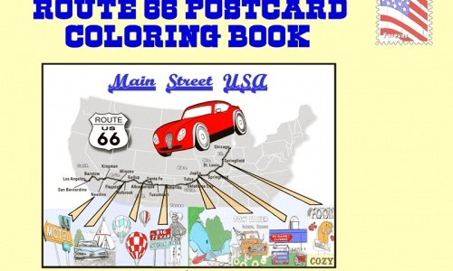 """Book review: """"Route 66 Postcard Coloring Book"""""""