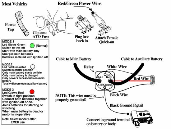 Dual Battery Isolator Kit Installation Instructions With Diagram