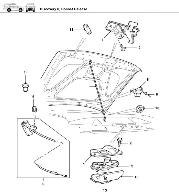 range rover hood latch