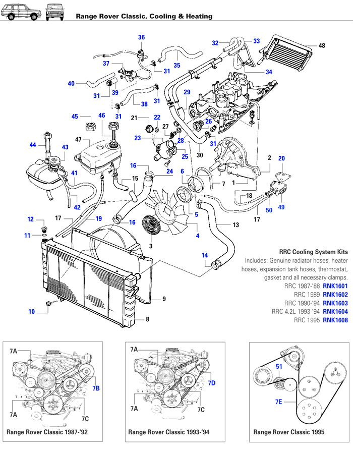 range rover engine parts diagram