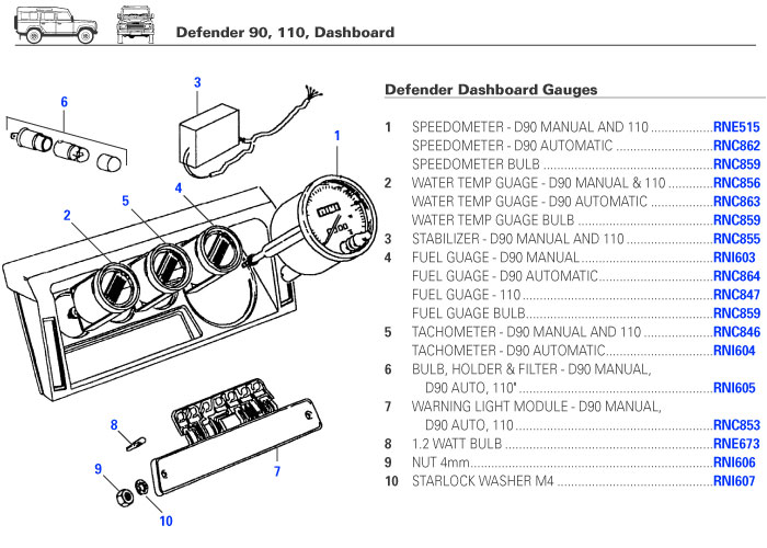 1995 defender 90 wiring diagram