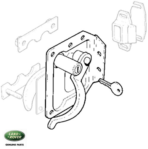 land rover rear seat latch