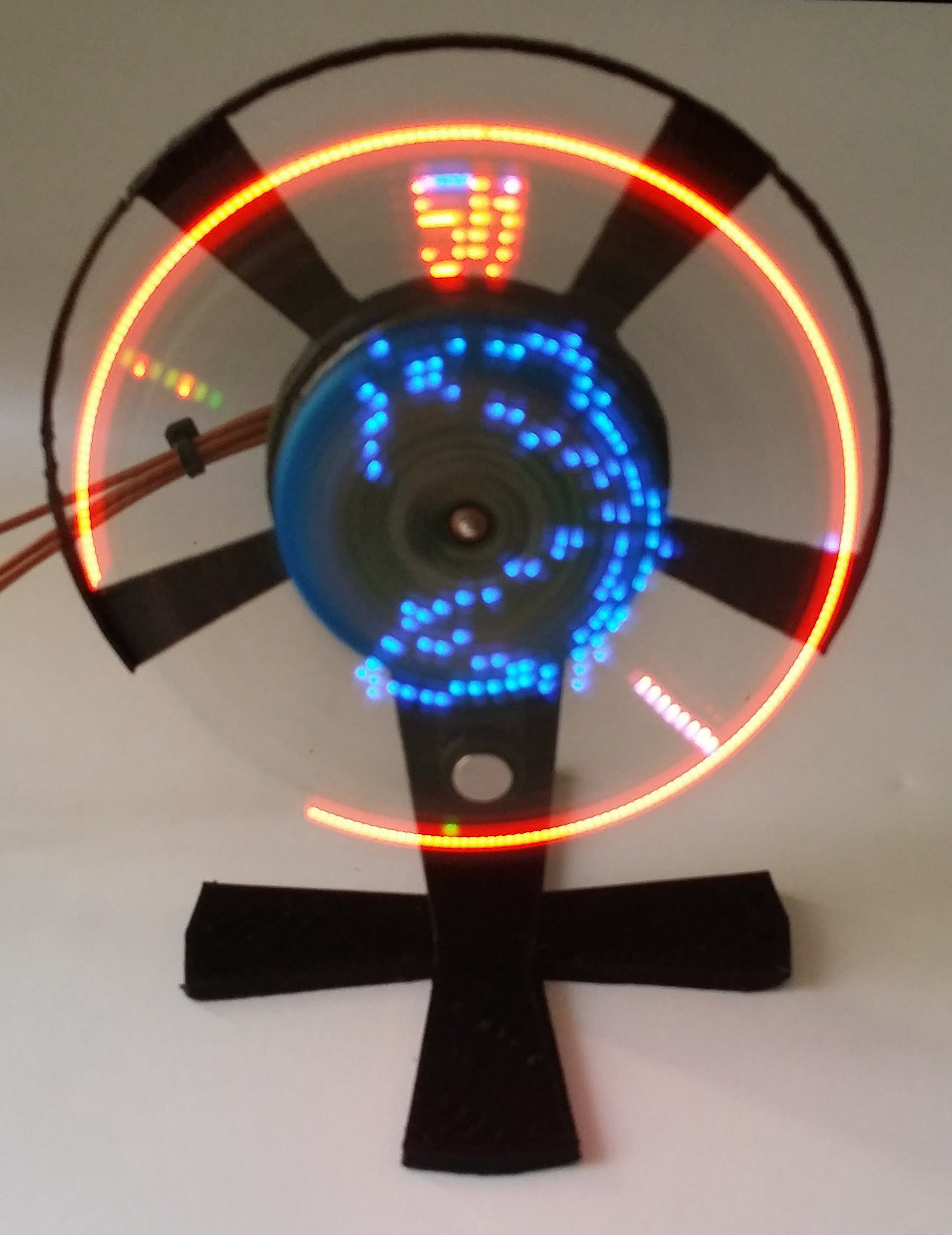 Basic idea of Rotating or Moving Message Propeller LED