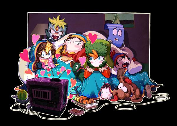 South Park Anime Kenny X Kyle South park anime/manga style