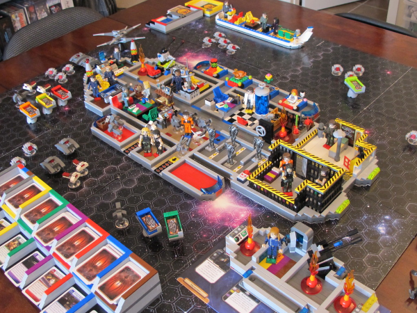 BSG board game recreated with LEGO