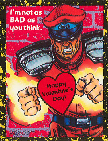M. Bison - Street Fighter 2 Valentine's Day Cards