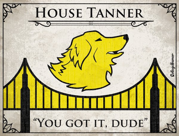 Game of Thrones House Sigils - Tanner Family - Full House