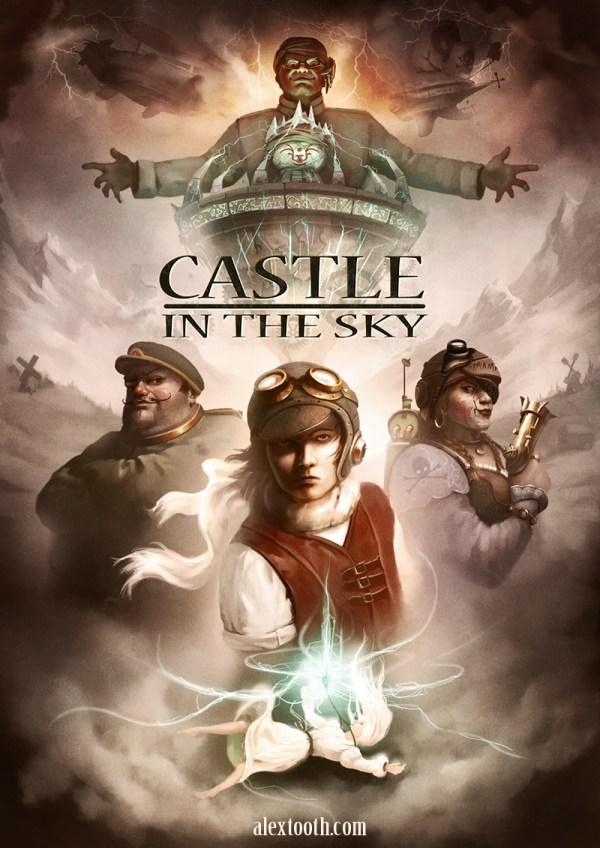 Laputa Castle in the Sky by Alex Tooth - Miyazaki Art