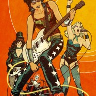 Wonder Woman, Black Canary, Zatanna and Batgirl as The Runaways by Cliff Chiang