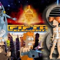 Futurama x The Fifth Element Mashup Art