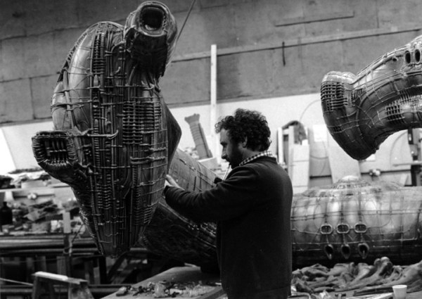 Pat Lowry - Peter Voysey working on the model 'Derelict' at Bray Studios