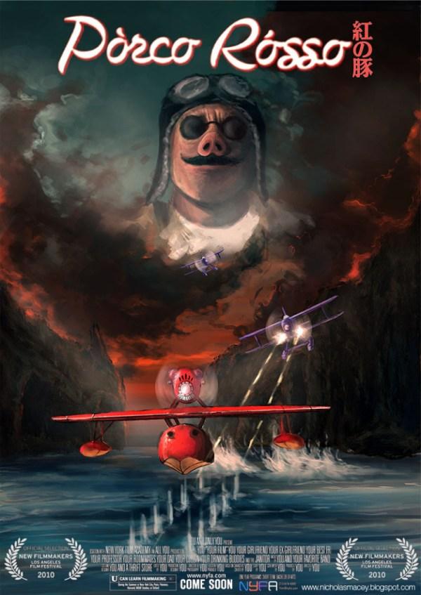 Porco Rosso by Nick Macey - Miyazaki Art