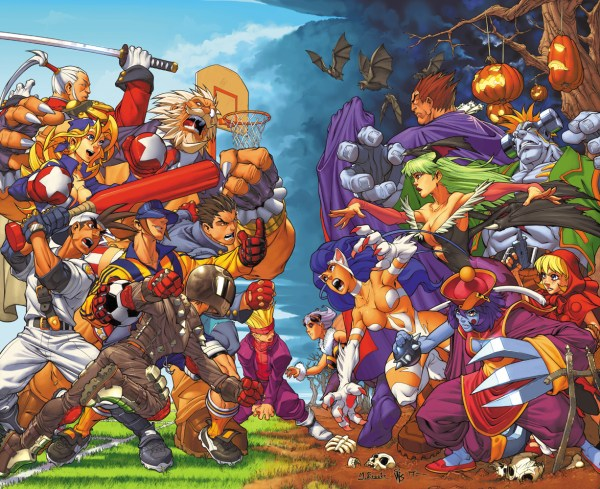 Rival Schools Vs Darkstalkers by Mark Brooks - Capcom Gaming